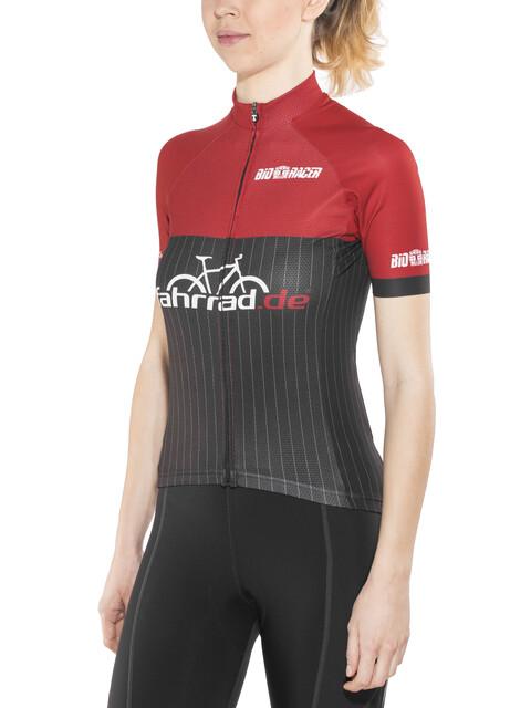 fahrrad.de Pro Race Jersey Women black-red